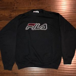 Vintage Looking FILA embroidered sweatshirt